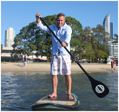 Chris Paddleboarding
